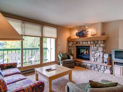 Photo for Ski-in/ski-out condo offering Mountain views, shared pool & hot tub