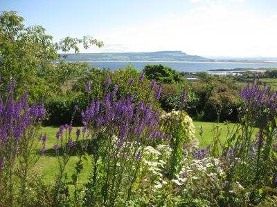 View of Magilligan Point from the garden