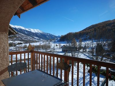 Photo for DUPLEX 7 to 9 people - The BEZ - SERRE CHEVALIER 1400 - ski in / ski out