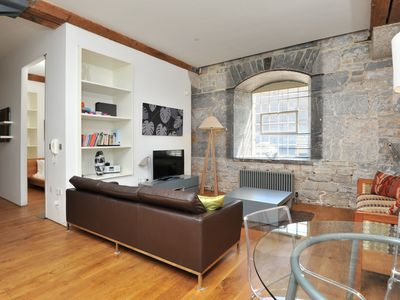 Photo for Waterside 2 bed contemporary apartment in Grade 1* historic Royal William Yard