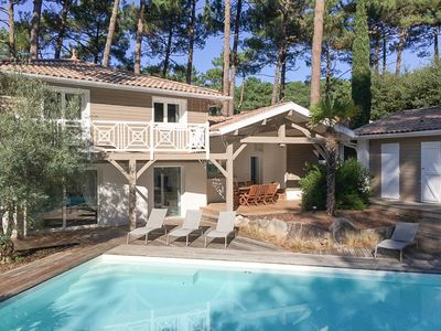 Photo for QUINTA California Villa with heated swimming pool at Seignosse golf course