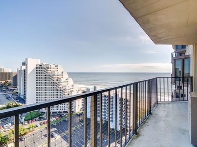 Photo for Amazing Side Ocean Views From This 2 Bedroom Condo in 9400 Building!