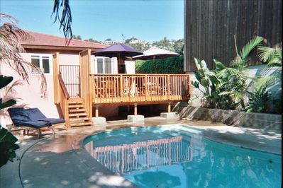 PRIVATE POOL, DECK and YARD NONE ARE SHARED WITH PARKING
