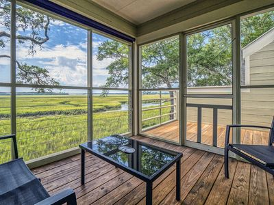 Photo for Spectacular Marsh and Sunset Views! 1 BR/2BA End Unit! Amenity Cards Available!