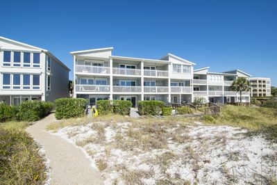 Sea Haunts back of townhomes from beach side