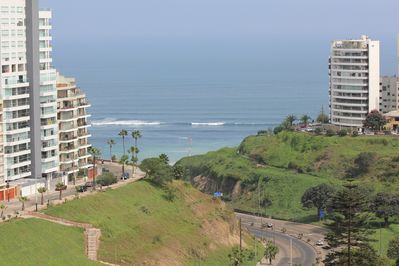 This is  The Quebrada de Armendariz that takes you down to  small Beaches, REAL Viewed from Condo.