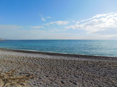 Photo for T4 neuf Menton 95m ² good standing 50m beach view garden Biovès 15 min from Monaco