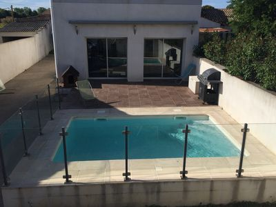 Photo for Rent spacious air-conditioned villa with swimming pool 15 minutes from the beaches