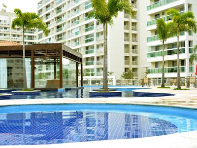 Photo for BEAUTIFUL APARTMENT VACATION OR BUSINESS - POOL, BEACHES, RIOCENTRO, PQ. OLYMPIC