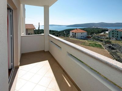 Photo for Two bedroom apartment with balcony and sea view Seget Vranjica, Trogir (A-4870-a)