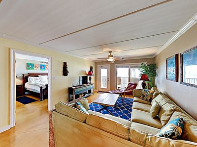 Living Room - Welcome to South Padre! This condo is professionally managed by TurnKey Vacation Rentals.