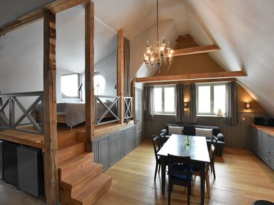 Photo for Beautiful loft apartment in a farmhouse with balcony and roof terrace