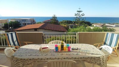 "Photo for ""Bellavista home"" - sea view apartment a few steps from the beach-free wifi"