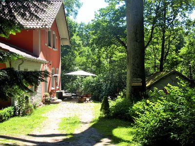 Photo for Old forester's lodge in the nature park, Berlin surroundings, own terrace, sauna, Wlan