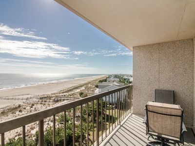 Photo for I608: 2BR+den Sea Colony oceanfront condo | Private beach, pools, tennis ...