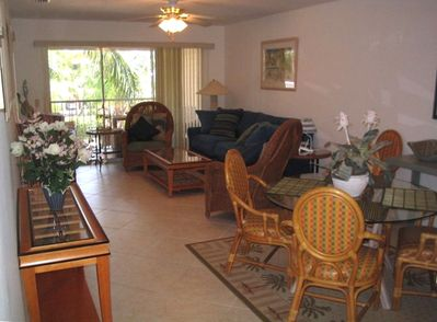 View of Dining Room, Living Room and Lanai