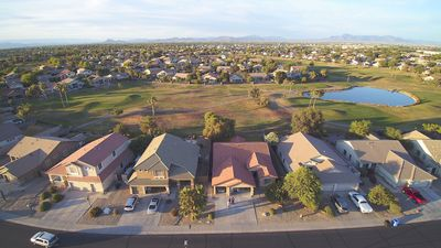 Photo for DOUBLE VIEW, SINGLE LEVEL. Golf course in front and back. Close to Food and Fun!