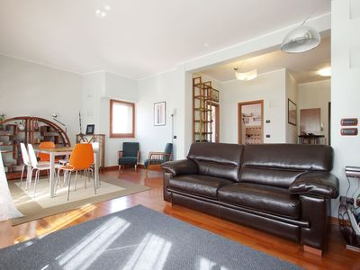 Photo for Elegant Vatican view apartment, large ideal for couples, families and groups