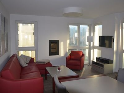 Photo for Luxury apartment on the first First floor with sauna, corner bath, fireplace, WLAN, near the beach