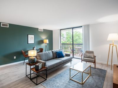 Photo for Charming Foggy Bottom 1BR w/ W/D + Gym near Watergate by Blueground