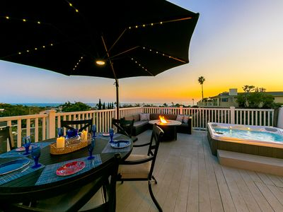 Photo for 25% OFF OCT - Ocean View Home w/ Outdoor Living, Hot Tub, Firepit + Yard