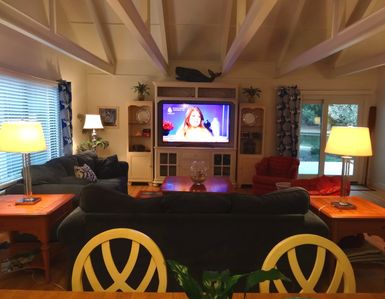 How fun-- a 65' HDTV in your comfortable 2 br, 2 bath condo