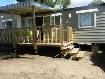 Photo for Comfortable mobile home, located on a site within walking distance of the beach