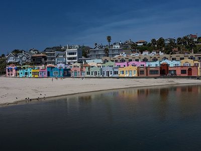 Capitola Venetian Cottages - ours is the pink one to the left of middle.