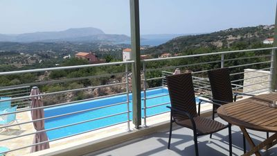 Photo for Quiet location with stunning mountain and sea views, private infinity pool