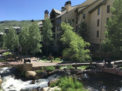 Photo for Lovely 2 bedroom condo, ski in/out at base of Beaver Creek Mountain