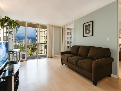 Photo for Newly Updated 1 Bedroom/ Bath with Ala Wai, Mt. Views, and Renovated Pool!