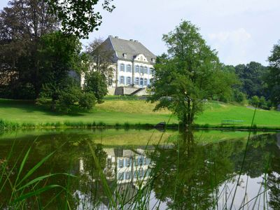 Photo for Renovated luxury castle with sauna (for large groups)