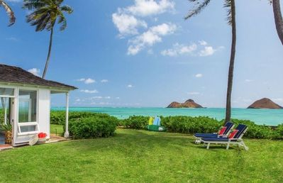 Photo for Lanikai Oceanside 4 Bedroom - Lanikai Kailua Oceanfront Beach House