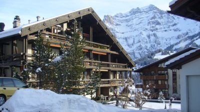 Photo for Apartment in Adelboden, situated in the village with beautiful views