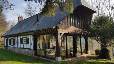 Photo for Charming Norman house of the 18th in the river 150 km from Paris