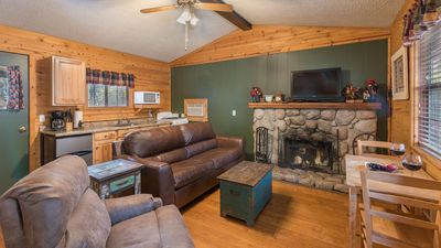 Photo for Whispering Pine Cabins - Blue Spruce -  Upper Canyon with Fireplace & Kitchen