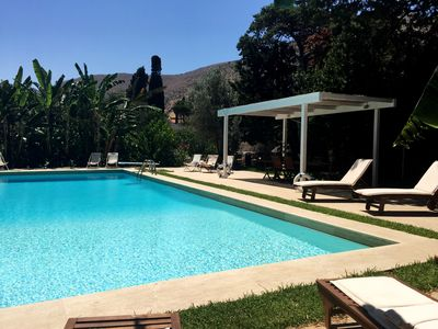 Photo for Fantastic pool surrounded by a 10,000 square meters of private garden