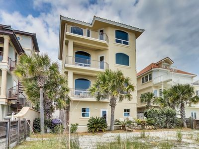 Photo for Four-story gulf-front home with private heated pool!  Private Beach Access!