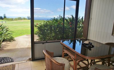 Ocean Views From Dining Table In Screened In Lanai