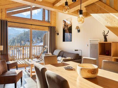 """Photo for """"LES CHARDONS"""" APARTMENT - 8 Pers - SKI-BY-FOOT - CHAMPAGNY - LA PLAGNE"""