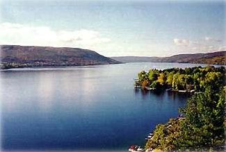 Looking south on Canandaigua Lake from Seneca Point's west side location.