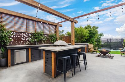 Outdoor kitchen and family haven