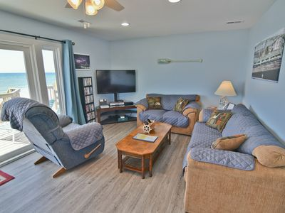 Photo for Island Delights II - Cozy Oceanfront Half Duplex, Pets Welcome!