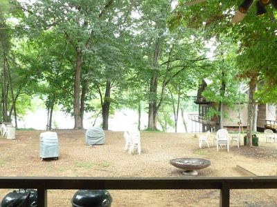 View  of the River from the deck of the lodge.