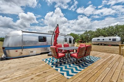 Patio - Enjoy glamping at its finest! Entertain on the patio with al fresco dining.