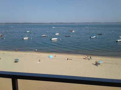 Photo for ARCACHON apartment on the seafront facing Pereire beach + parking terrace