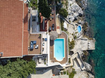Photo for Dubrovnik Private Beach and Pool Charming Seafront Villa For 10