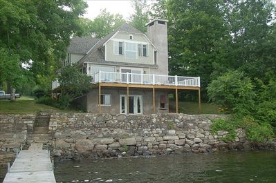 The house viewed from the end of the dock