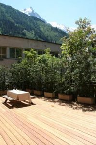 Photo for Heart of Chamonix, light, renovated. Large private sunny terrace, view to the mountains
