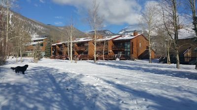 Photo for Sunny townhome, mtn views, private decks, bbq, walk to brewpub and whole foods